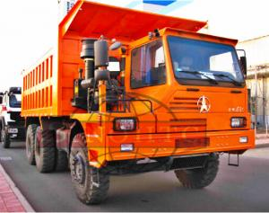 China Three Axle Heavy Duty Dump Truck For Mining 420hp Power Half Cabin on sale