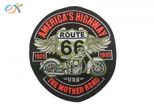 China Rectangle Embroidered Motorcycle Patches , Custom Made Patches For Leather Vests on sale