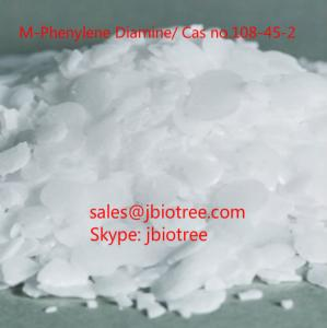 China Factory supply: M-Phenylene Diamine(MPD),Cas no.108-45-2,MPDA, white rocks,M-PDA,99.9% MPDA,skype:jbiotree on sale
