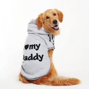 China S M L XL Large Breed Dog Golden Retriever Clothes Grey , Yellow Color on sale
