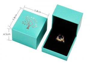 China Rectangle Small Cardboard Jewelry Boxes Necklace Packaging Boxes With Logo on sale