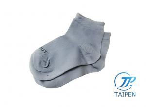 China Grey Organic Cotton Personalized Rib Knit Non Slip Skid Baby Ankle Socks on sale