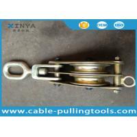 Heavy Duty 3T Steel Double Wheel Wire Rope Pulley Block With Swivel Eye