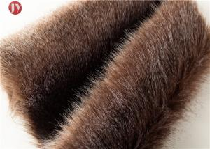 China 68mm Pile Height Plush Faux Fur Fabric Feather Ostrich Exotic Synthetic on sale