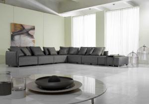 Quality Living Room Modern Fabric Sofas, European Style Lobby Sofa Set , Brown fabric for sale