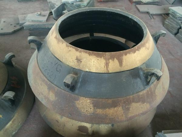 cone crusher spare parts high manganese cone liner bowl
