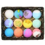 Manufacturer Custom Packaging Gift Set Rich Bubble Vegan Natural Organic Colorful Fizzy Coconut Oil Bath Bombs