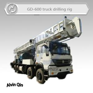 China 600 meters deep rotary table type Truck mounted water well drilling rig hot sale in Africa on sale
