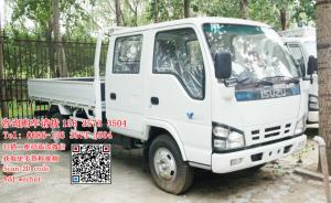China Isuzu 600p crew cabin light cargo truck diesel engine 130hp Euro protect enviroment on sale