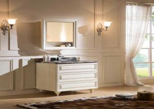 China Moden Solid Wood Vanity Units For Bathrooms  / Solid Oak Small Vanity Sink Units on sale
