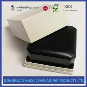 China Black Appearance LED Jewelry Packaging Boxes Handmade For Ring / Pendant on sale