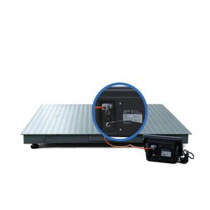 China Blue Floor Weighing Scales 1 Ton Commercial Rechargeable 6V/4AH Battery on sale
