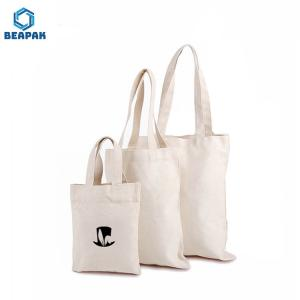 China Jute Cotton Canvas Foldable Reusable Blank Shopping Bags on sale