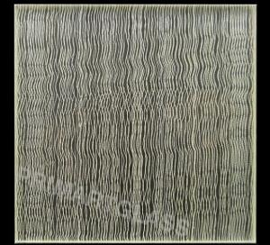 China Wavy Fabric Laminated Glass For Curtain Walls , Toughened Glass on sale
