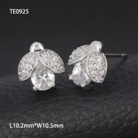 China OLF Wholesale Shiny Korea Cute Girl 925 Sterling Silver Zirconia Beatles Stud  Earring on sale