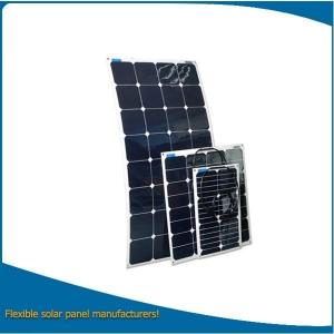 China Semi Flexible Solar Panel / Bendable Solar Panel 50W For Boat, Golf Car, Etc on sale