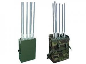 China Outdoor Manpack Drone Signal Jammer 6 Bands / Professional Drone Frequency Jammer on sale