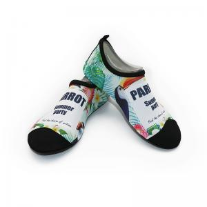 China Lycra Quick Dry Mens Aqua Socks Water Shoes Leaves Pattern Customized Color on sale