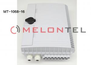 China 16 Core Fiber Optic Terminal Box / Fiber Optic Cable Junction Box With 2 Clamps on sale