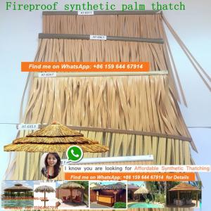 China wholesale plastic palm artificial synthetic palm thatch tiki hut palapa 80 on sale