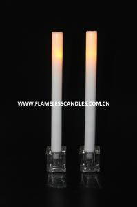 China Melting Wax 11 Flameless Taper Candles – Battery Operated Flickering LED Candle on sale