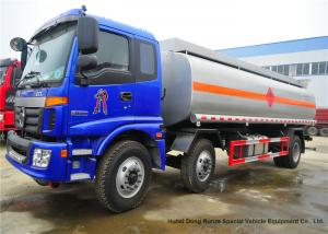 China FOTON Auman Stainless Steel Oil Tanker Truck For Diesel Oil / Crude Oil Transport on sale