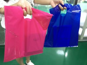 China 2017 ALL SIZES/COLORS LDPE 12 x 15 Inch Printed Retail Merchandise Plastic Shopping Bags, Die Cut-Type (100 QTY) on sale