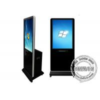 Wifi Network Touch Screen Kiosk with Printer, Indoor Floor Standing Lcd Advertising Standee Kiosk