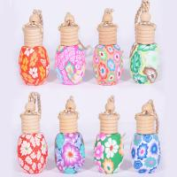 China 12-15ml polymer clay perfume bottle car accessories tourist crafts on sale