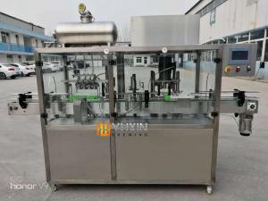 China mini beer factory used semi automatic beer canning machine / canning line on sale