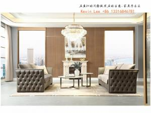 China Elegance American style furniture in Light luxury design for Villa house living room leather sofa factory directly sale on sale