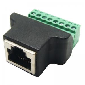 RJ45 F cable RJ45 8p8c plug to terminal block adapter RJ45 F to spring connector