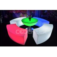 Curved Glowing Lit Furniture Led Bar Chair Used Nightclub Bench