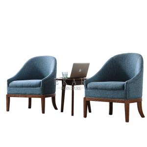 China Fabric Leisure Wood Armchair Living Room Chair on sale
