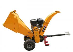 China 15 HP Gasoline Wood Chipper Custom Color With Emergency Stop Button on sale