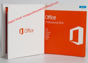 China Pro Plus Office 2016 Retail Box Professional Retail Box Genuine Key Code With DVD / FPP on sale