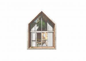 China Eco Friendly Prefab Loft Homes Dark Gray Light Wood Luxury Modern Modular Homes supplier