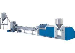 China Twin Screw Plastic Pellet Extruder , High Efficiency Masterbatch Production Line on sale
