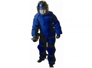 China Navy Blue Bomb Disposal Equipment Search Suit And Helmet Light Weight on sale