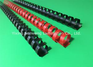 China Black / Red Plastic Binding Combs 20mm Punched Into Papers Rectangular Holes on sale