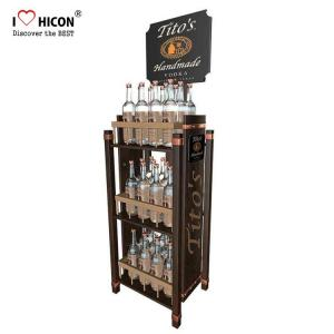Free 3D Wine Display Stand Rendering Movable Tiered Display