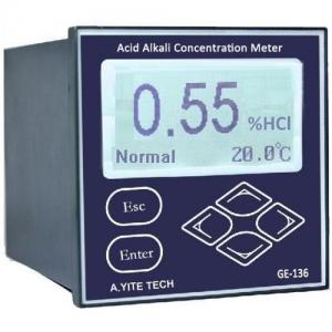 China Acid Alkali Concentration Meter (Water Online Industry Monitor  Analyzer ) on sale