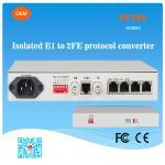 FCTEL E1 2 à la fibre d'Ethernet des canaux 100Mbps a contrôlé le convertisseur de protocole