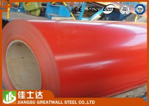 China Red Cold / Hot Rolled GI Steel Coil , PPGI Steel Sheet Roll Roofing Materials on sale