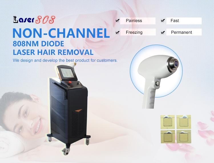 Black Color 3 Wavelength Laser Hair Removal Soprano ICE
