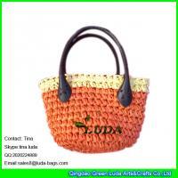 China LUDA kids cute handbag crocheting paper straw handbags for children on sale