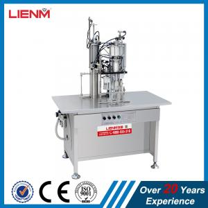 China 3 in 1 Semi-auto Snow Spray Air Freshener Body Spray Filling Machine Packing Line on sale