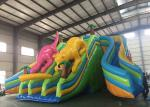 Giant Commercial Inflatable Dry Slide Dinosaur Theme More Durable And Long Lasting