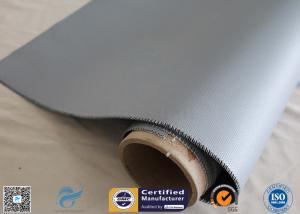 China 4HS Satin Weave 1.2m * 50m High Temp. 260℃ Silicone Coated Fiberglass Fabric on sale