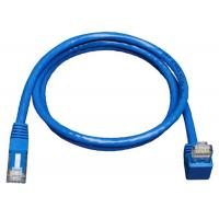 China Down Angle Lan Network Cable Gigabit Molded Patch Cord For Print Server on sale